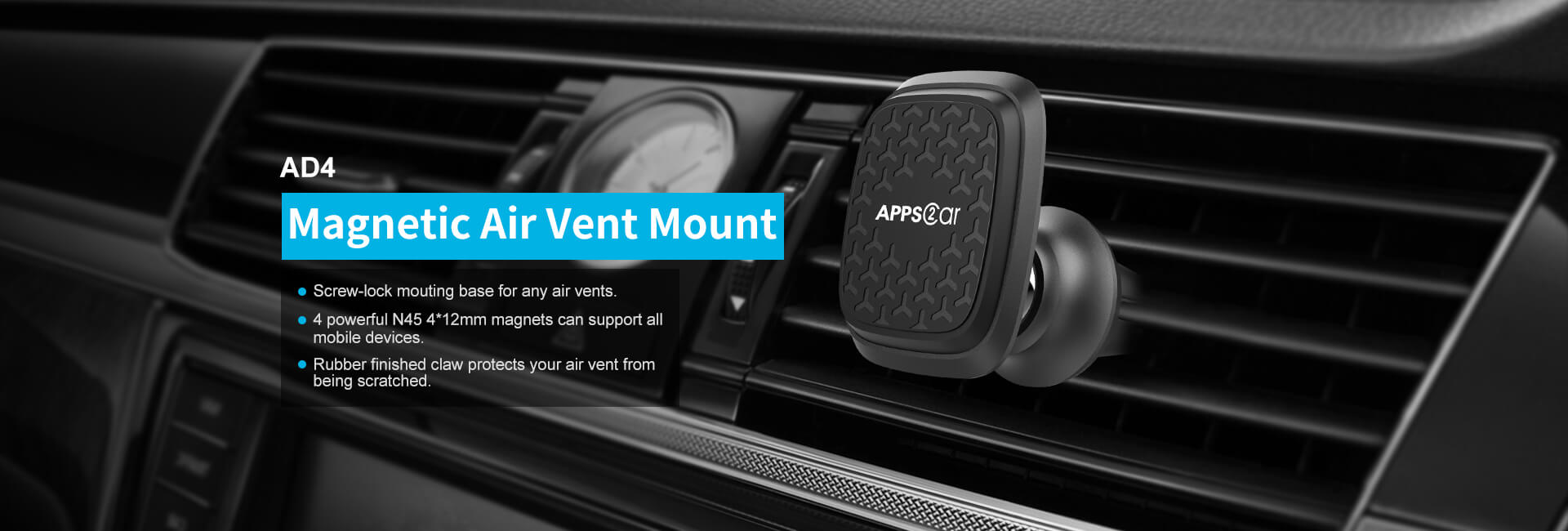 Magnetic car mount